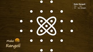 Easy Sikku Kolam with 6x2 dots | Simple Melika Muggu Designs | Make rangoli | Kolam