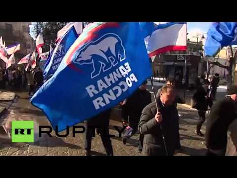Russia: Simferopol march marks 25 years since 1991 Crimean sovereignty referendum