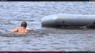 Тест лодки ПВХ на переворот, устойчивость, надежность. Рыбалка ловля хариуса(Тест лодки ПВХ без надувного дна показал, что лодку очень трудно перевернуть как в одном направлении, так..., 2014-02-01T23:04:13.000Z)
