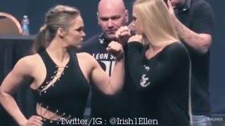 UFC WOMEN |  INTENSE WEIGH-INS/STARE-DOWNS