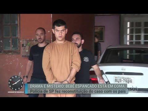 Pai acusado de espancar bebê participa de reconstituição do caso | Primeiro Impacto (14/06/18)