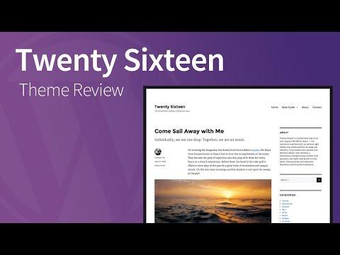 Twenty Sixteen – Responsive WordPress Theme Review