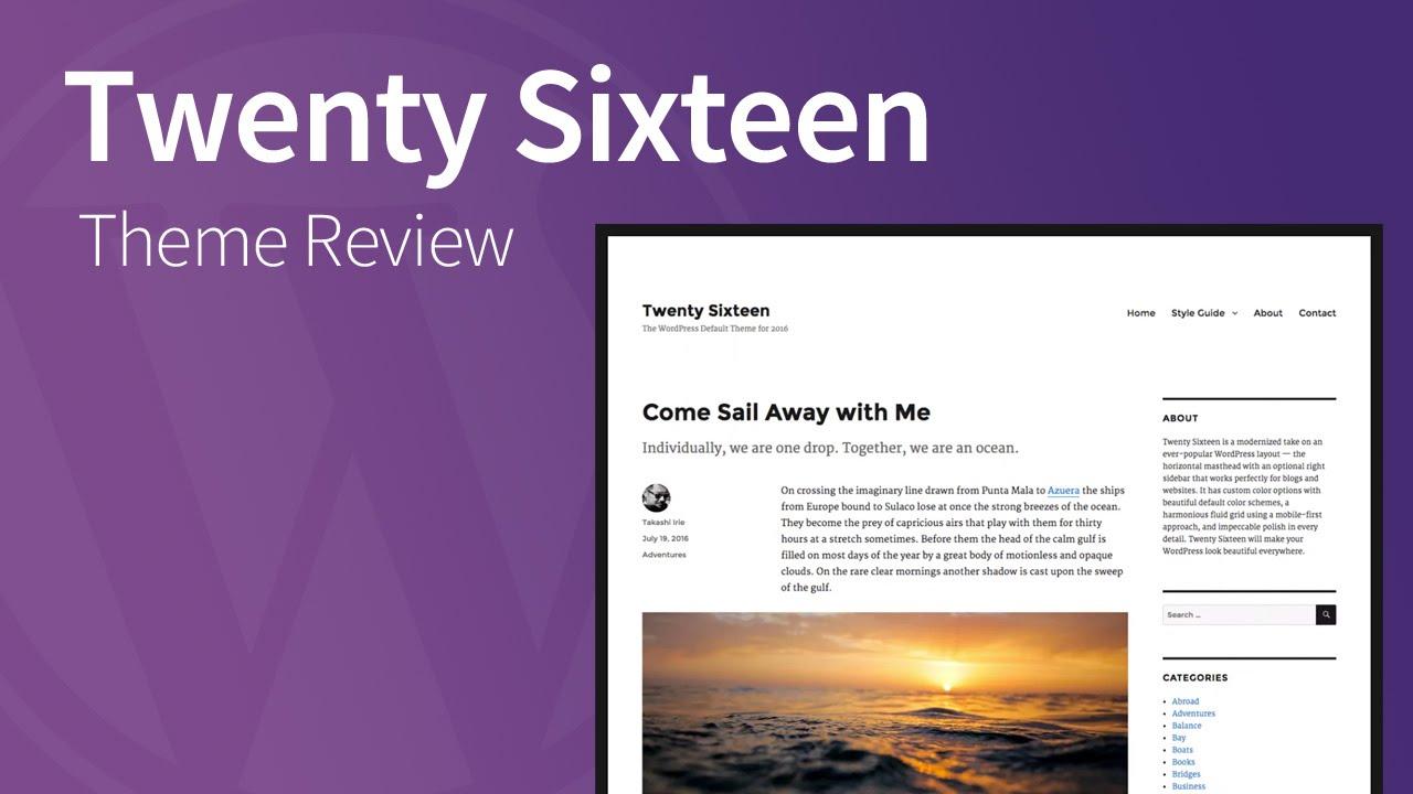 how to add a header twenty sixteen theme