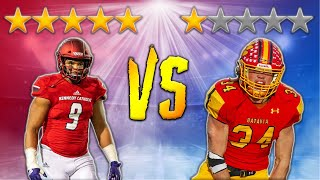 5 Star Outside Linebacker VS 1 Star Outside Linebacker l Sharpe Sports