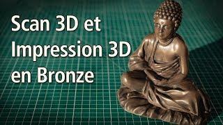 Scan 3D de mon fils, Sculpture 3D, Impression 3D en métal avec du filament Bronze !