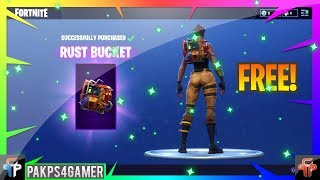 Fortnite FREE BACK BLING RUST BUCKET Live!