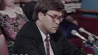 Bill Barr Attorney General Confirmation Hearing: Day 1 (November 12, 1991)