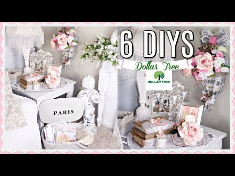 💖6 DIY DOLLAR TREE FRENCH CHIC DECOR CRAFTS /GLAM/ BRIDAL 💖 Olivia's Romantic Home DIYS
