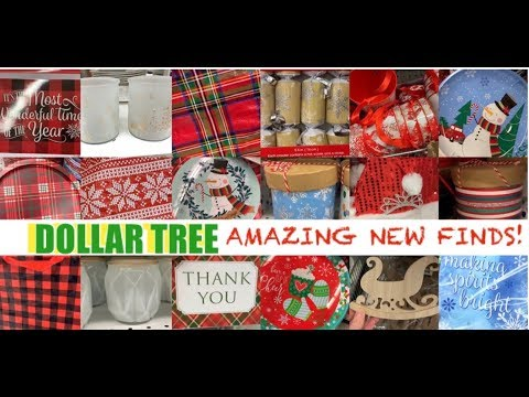 DOLLAR TREE CHRISTMAS 2019 OMG! AMAZING NEW FINDS • NOVEMBER 28 2019