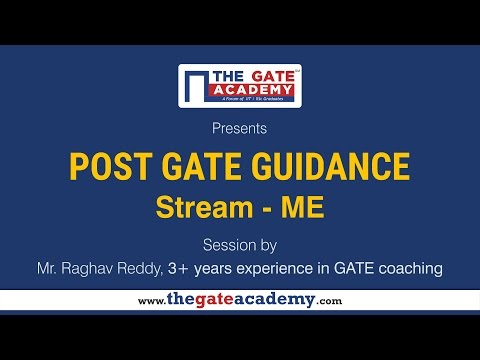 Mechanical Engineering | Post GATE Guidance for M.Tech in IIT/NIT & PSU jobs