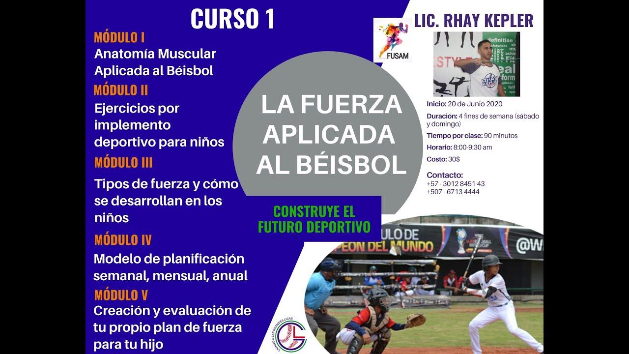 Curso de Fuerza Aplicada al Béisbol (resumen clase 1)