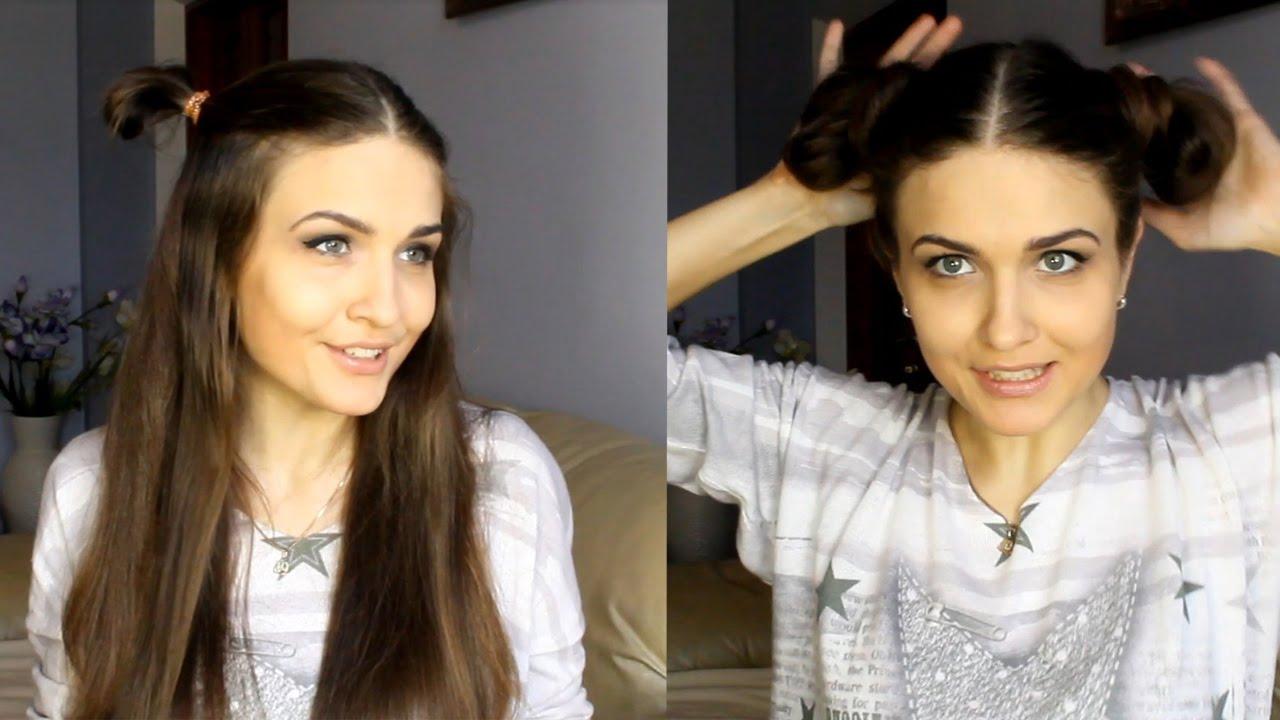 модные шишки на волосах