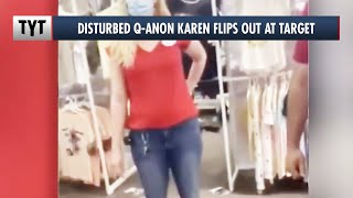 Q-Anon Karen Attacks Target Face Mask Display