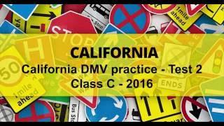 DMV driving test California 2016 practice Test 2 - #2