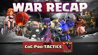 Clash of Clans || War Recap #10 CoC Pro TACTICS vs Dark Territory Deutsch | German HD