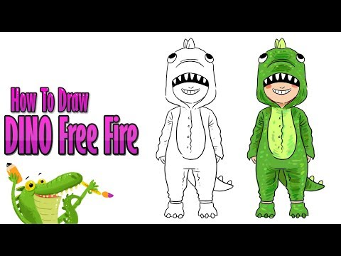 How To Draw Dino Free Fire Step By Step Easy Youtube