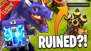 DID THE UPDATE RUIN TH10 ZAP DRAGS?! - Clash of Clans