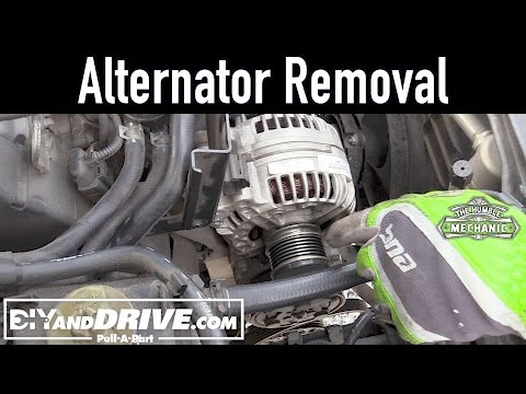 How To Remove A VW Alternator ~ Salvage Yard Tips
