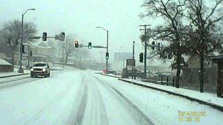 Branson Missouri Feb 2 2014 Snow Storm Drive 1