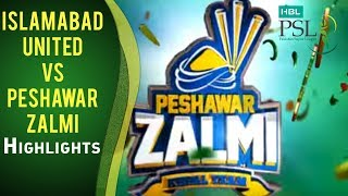 Match 23: Islamabad United vs Peshawar Zalmi - Highlights