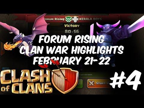 Clash Of Clan | Forum Rising | Clan War Highlights | Off To Bound! | Episode 4