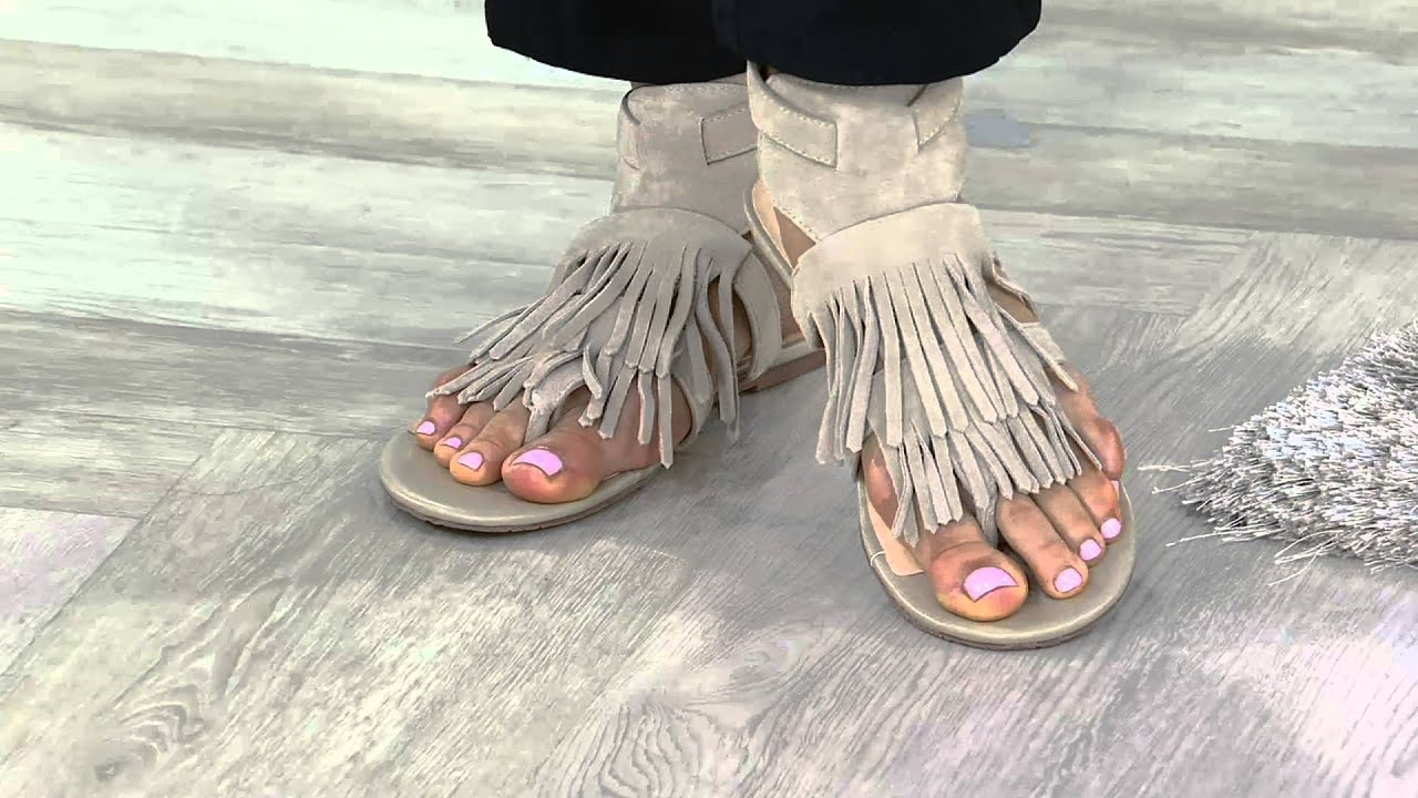 C. Wonder Suede Sandals with Fringe - Jessa outlet footlocker pictures countdown package how much sale online yCYeh