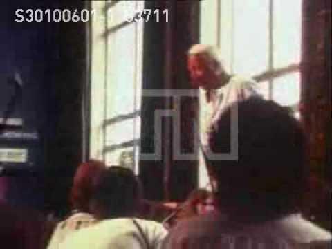 Edward Heath rehearsing European Youth Orchestra.1978.