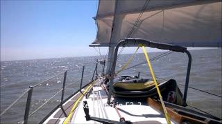 Sailing Varne 27 Junk Rig  - East coast summer 2015