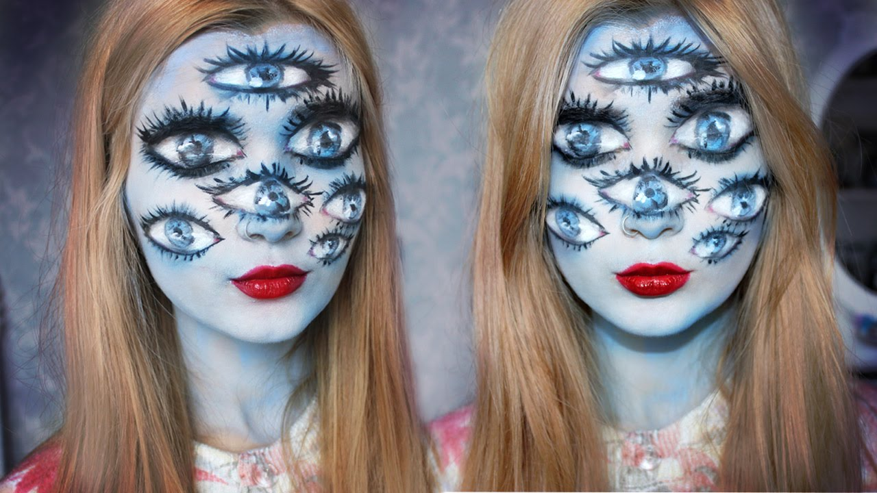 Tim Burton Inspired Halloween Makeup | The girl with many eyes ...