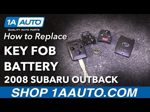 How To Remove Replace Key Fob Battery 2008 Subaru Outback