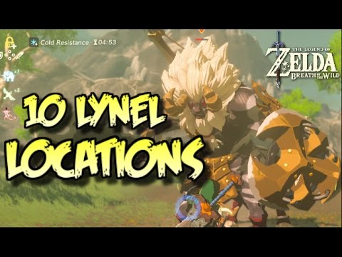 10 LYNEL LOCATIONS In Zelda Breath Of The Wild