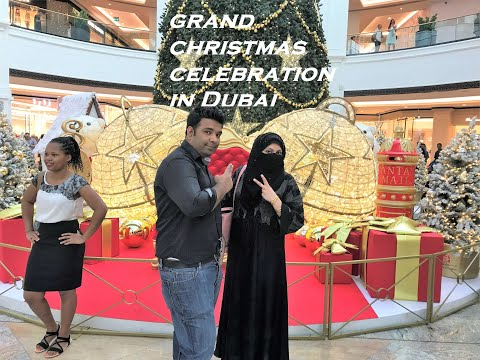 Christmas celebration in Dubai – Mall of the Emirates – 2019