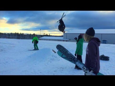 Skiing the streets of Järpen