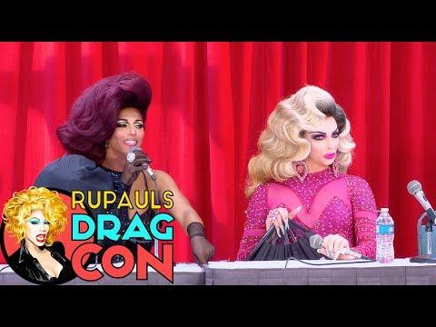 Alyssa's Secret with Shangela at RuPaul's DragCon 2017