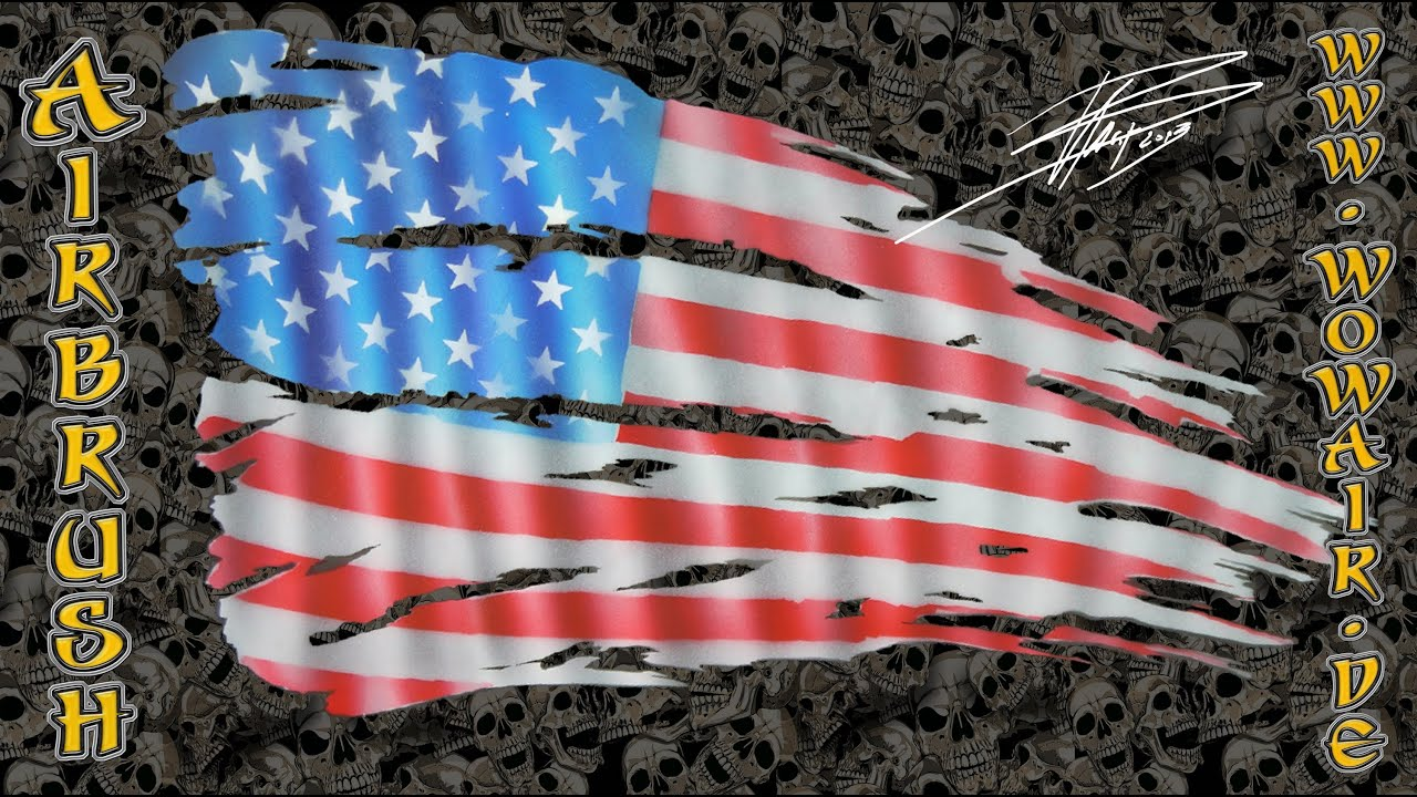 All American Airbrush Stencil