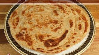Lacha Paratha (Flat Layered Bread) by Manjula
