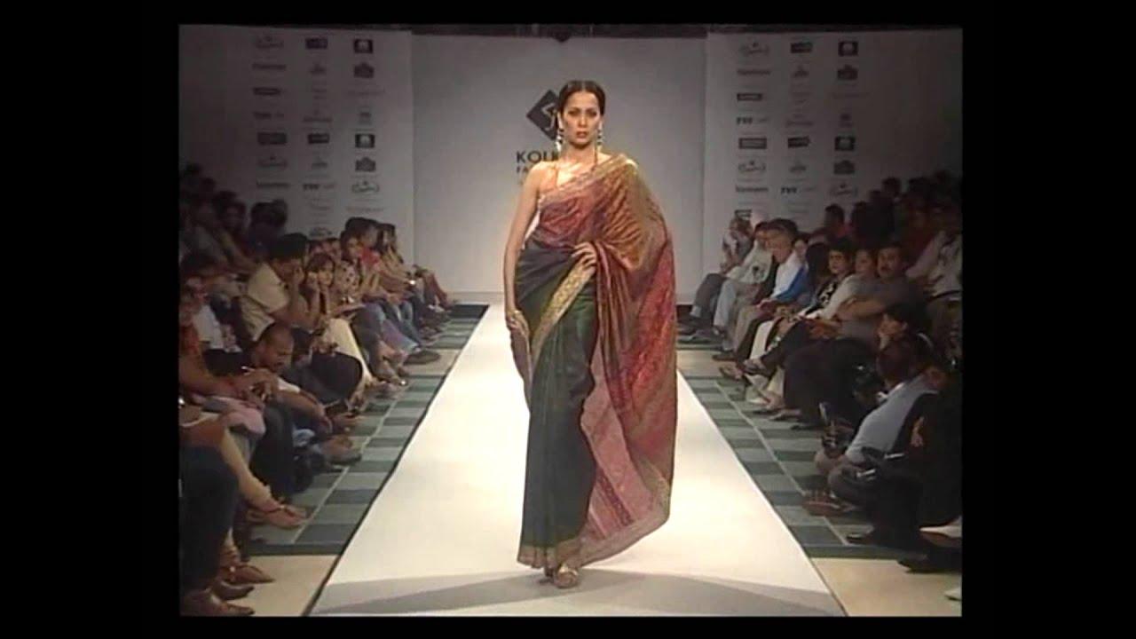 Satya Paul Saree Collection At Kolkata Fashion Week Part Ii Youtube