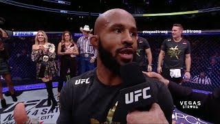 UFC 216: Demetrious Johnson Octagon Interview