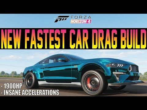 Forza Horizon 4 - INSANE 1900HP Drag Mustang! - Fastest Car In The Game? thumbnail