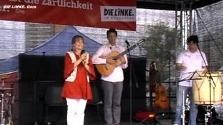 Aurora Lacasa und Band - Ausschnitt vom Konzert zum Friedensfest am 1.9.2012 in Gera