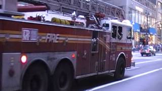 New York City Fire Department Ladder Company 25 responding