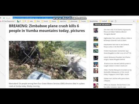 Zimbabwe Plane Crash 28 March 2017 (with Pictures)