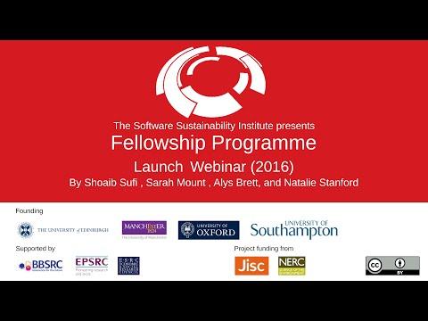 Fellowship Programme 2016 Launch Webinar
