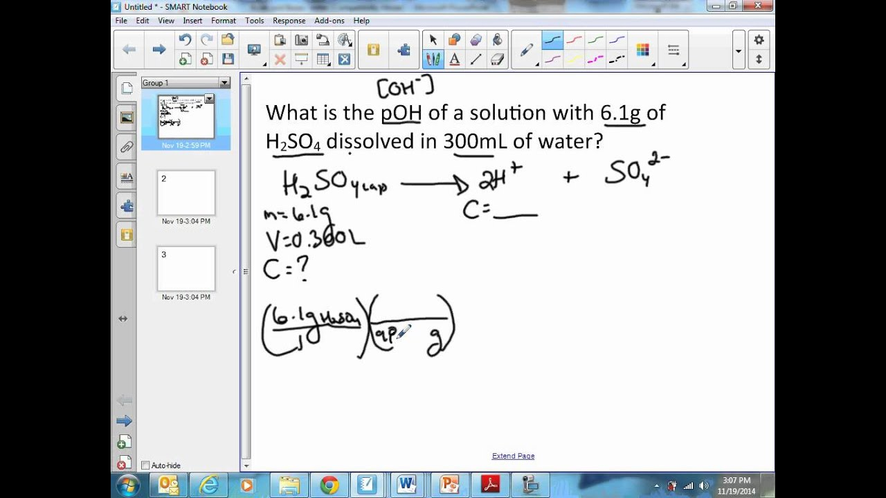 Calculating the pOH of a solution given the mass of an acid YouTube – Ph and Poh Calculations Worksheet