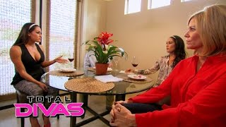 nikki bella s family tells her they confronted john cena total divas preview clip january 4 2015
