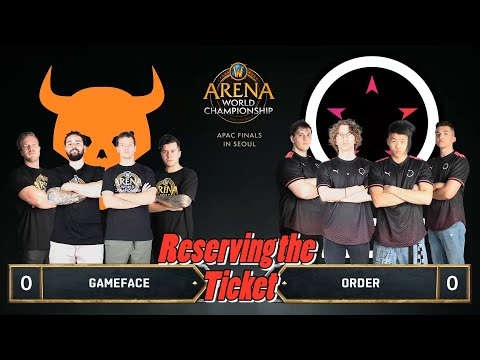 Reserving the Ticket | GRAND FINAL | Gameface vs Order | 2019 AWC Asia Pacific Finals