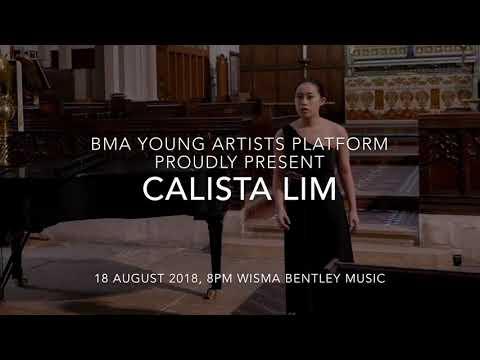 Calista Lim, Award Winning Soprano, BMA Young Artists Platform