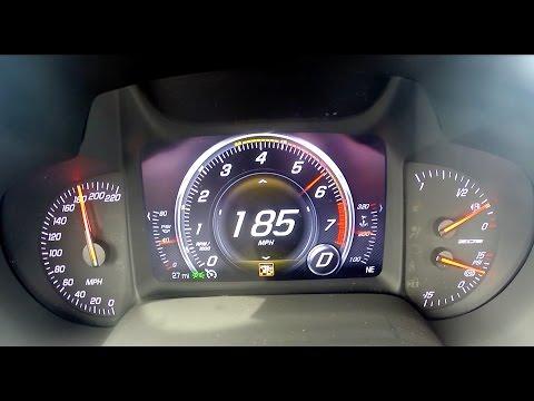 0-185 mph 2015 Z06 Corvette Test Run