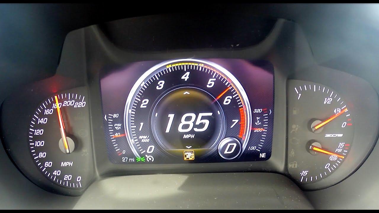 Gas Gauge Not Working >> 0-185 mph 2015 Z06 Corvette Test Run - YouTube