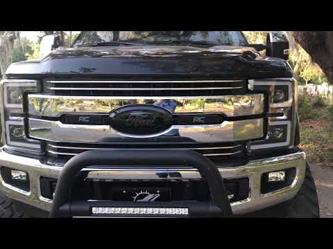 Review of the new 2017-2018 Ford F250 / F350 / F450 ANZO Projector Plank Style Switchback Headlights